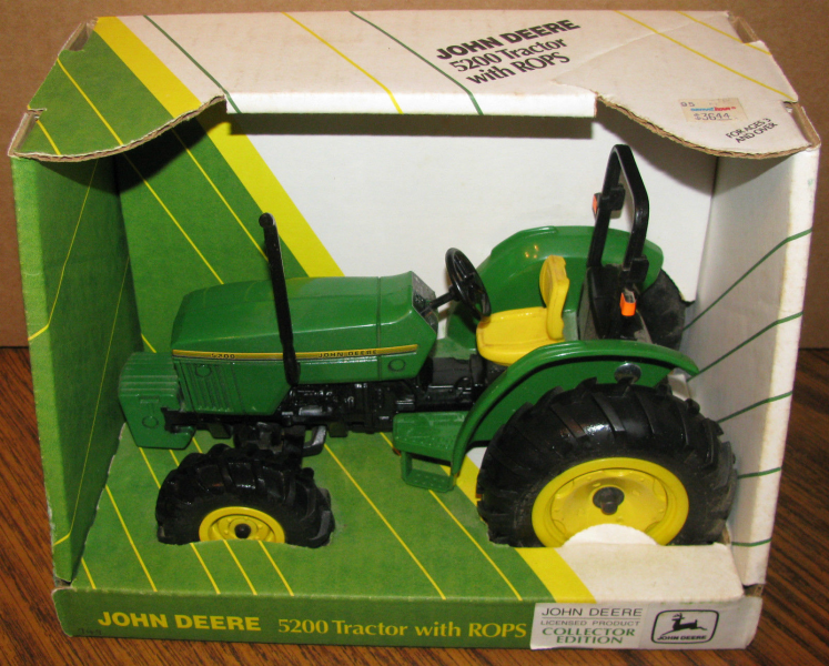NEW! John Deere 5200 Toy Tractor ROPS 1/16 Special Edition 1995 Ertl ...