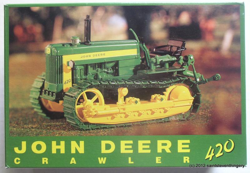 Details about Ertl 1/16 John Deere 420 Crawler 18th Annual 1998 Plow ...
