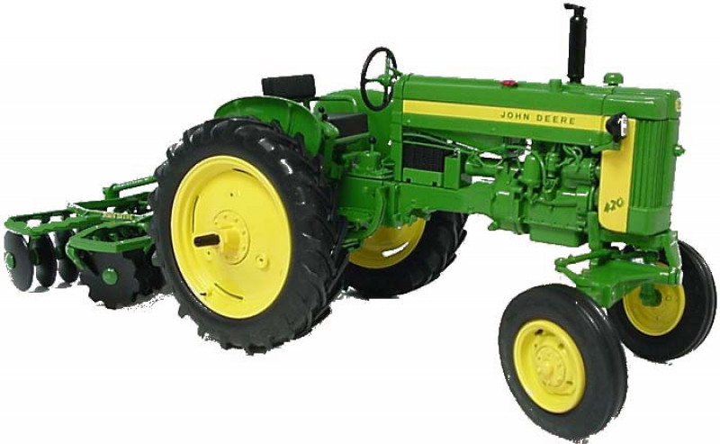 ... Precision Key Series #4 John Deere 420 Tractor with KBL Disk by Ertl