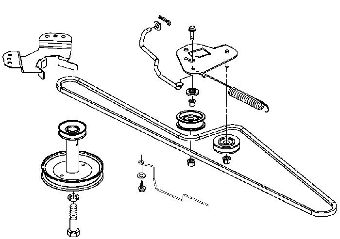 John Deere Traction Drive Belt For L100 Series John Deere