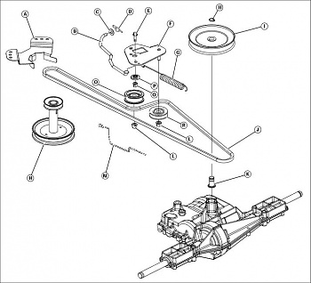 John Deere 108 Drive Belt Diagram on john deere 111 parts diagrams