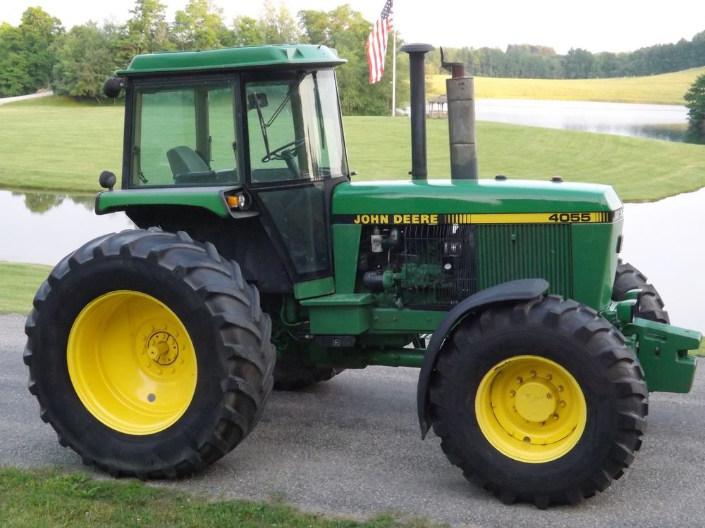 John Deere 4055 4WD tractor | eBay