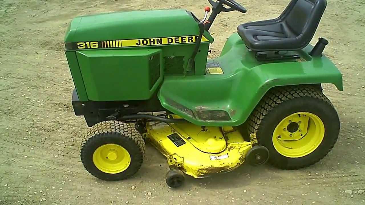 For Sale Clean John Deere 316 Lawn & Garden Tractor w/ 46