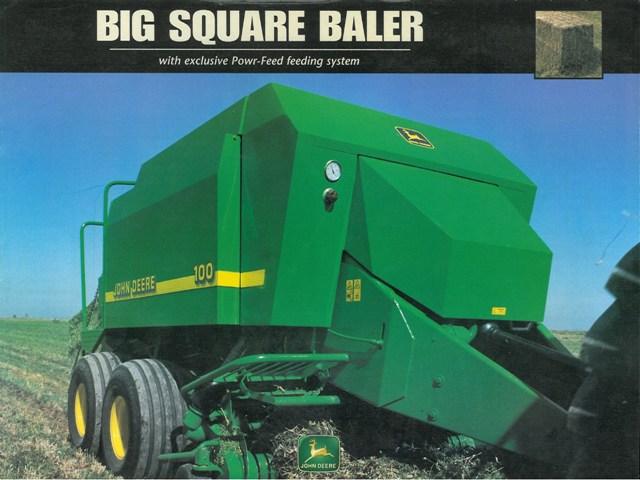 john deere 100 square baler john deere balers john deere balers  john deere big square baler 100 brochure