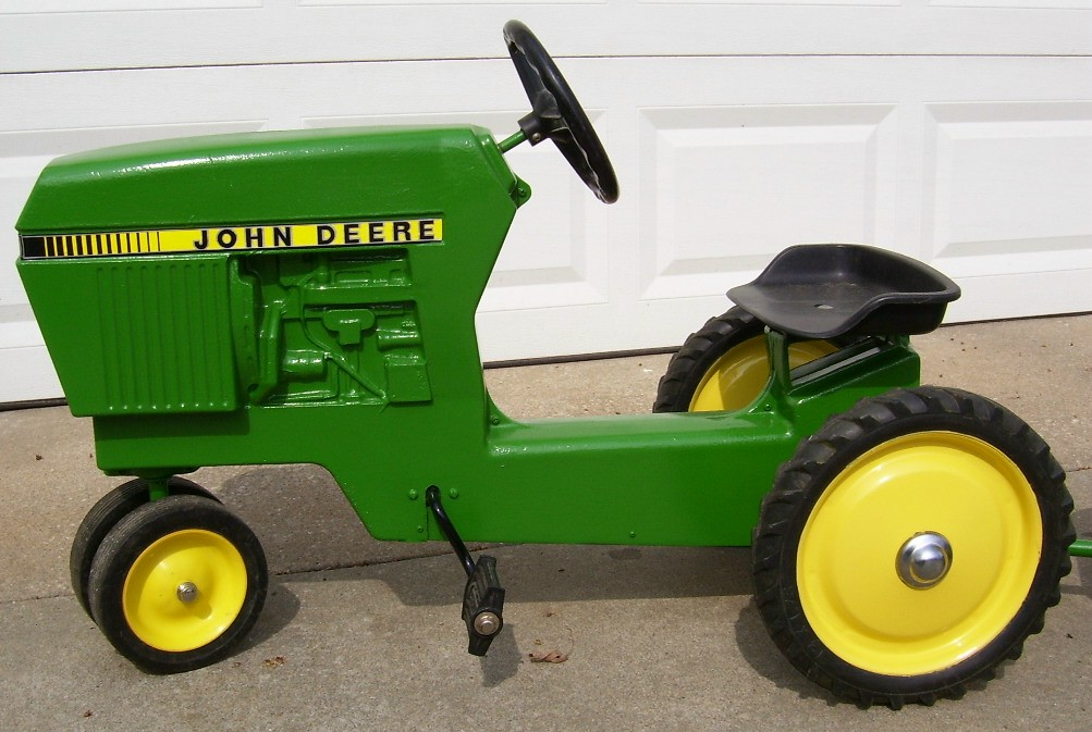 Metal Pedal Tractor Loader : John deere pedal tractor wagon the