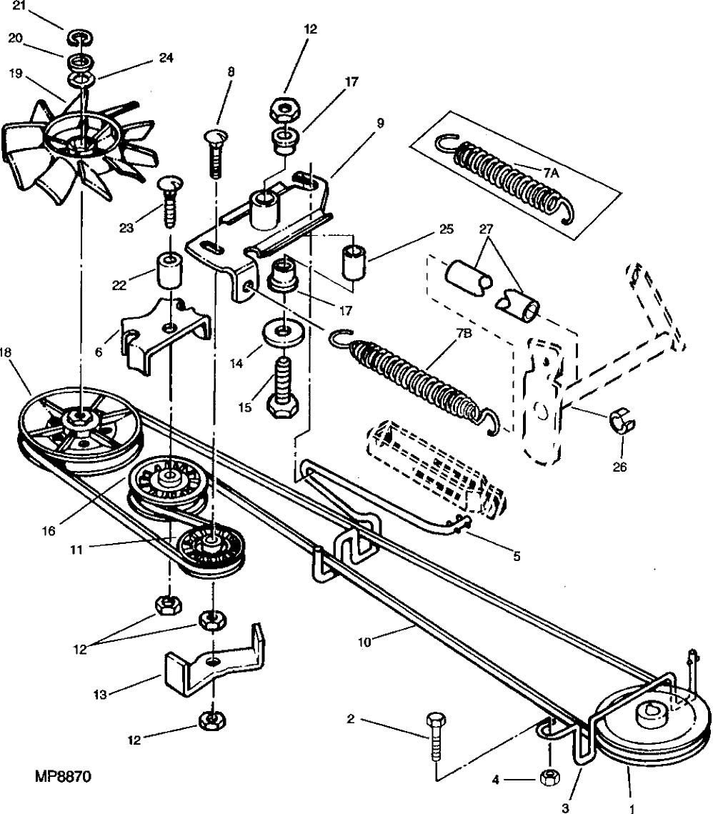 John Deere Lawn Tractors Parts Diagram 38 Wiring Images La140 Bingimages 375031 Drive Belt Belts