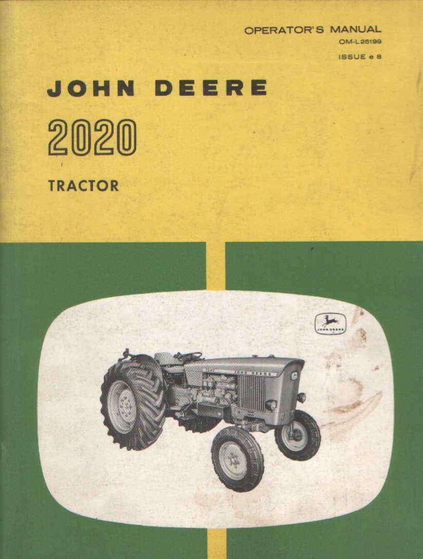 John Deere 2020 Manual Manuals 1530 Wiring Diagram Tractor Operators