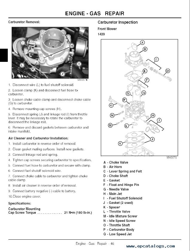 John Deere 1445 Manual | John Deere Manuals: John Deere Manuals