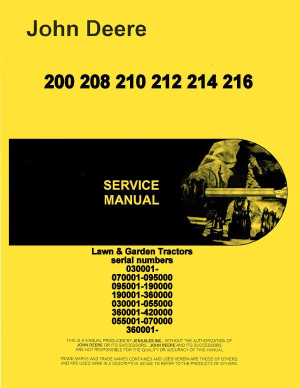 John deere 2150 owners manual john deere manuals john deere john deere 212 service manual john deere 200 208 210 212 216 216 lawn tractor service fandeluxe Image collections