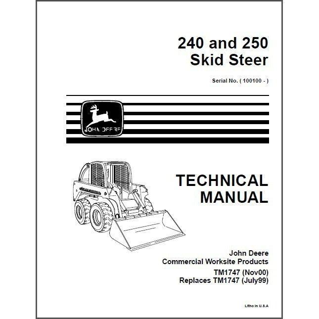 John Deere 250 Manual – John Deere 240 Skid Steer Wiring Diagram
