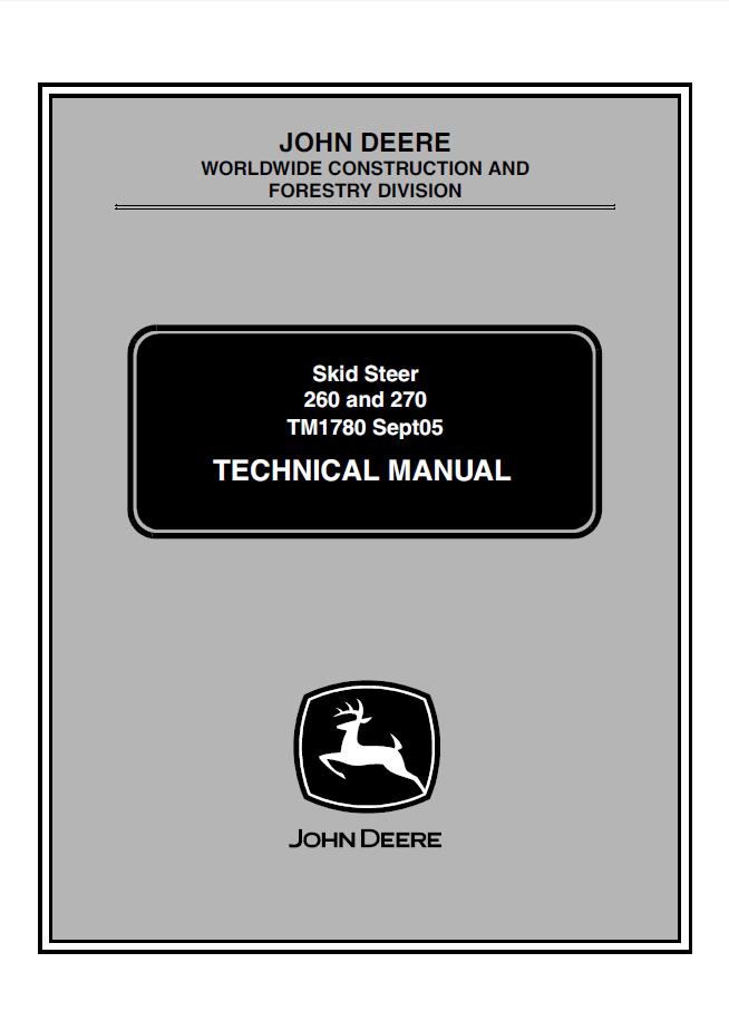 John Deere 260 Manual – Jd 245 Wiring Diagram