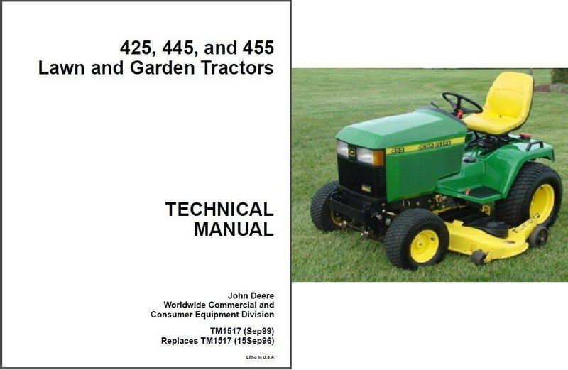 John deere 425 mower deck manual john deere manuals john deere john deere 425 445 455 lawn garden tractor service fandeluxe Choice Image