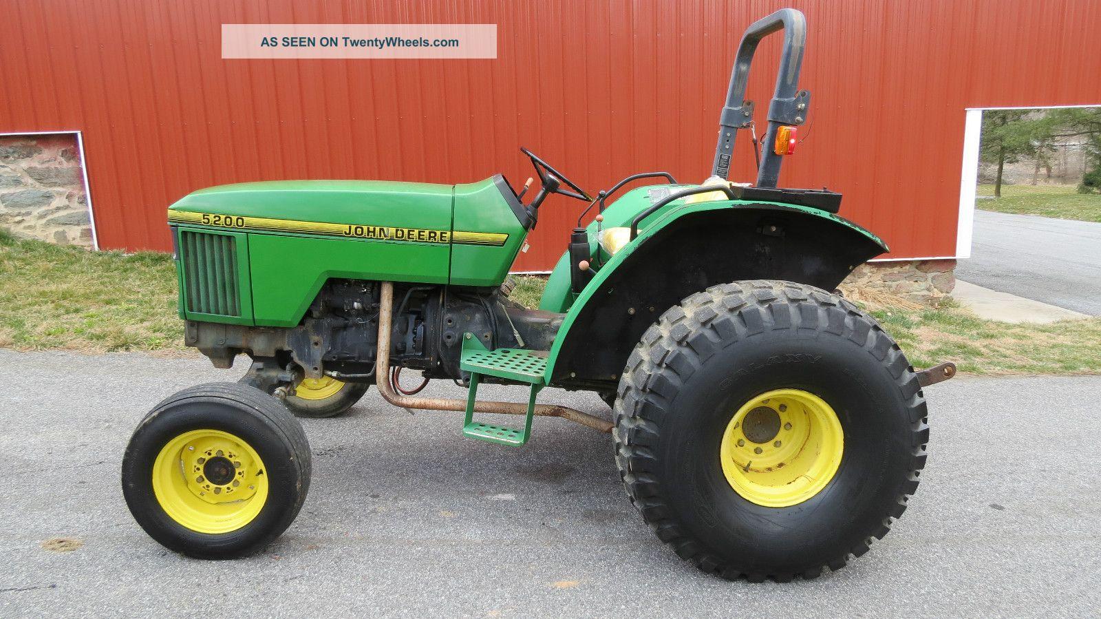 1995 John Deere 5200 Utility Tractor 46 Hp Diesel Dual .