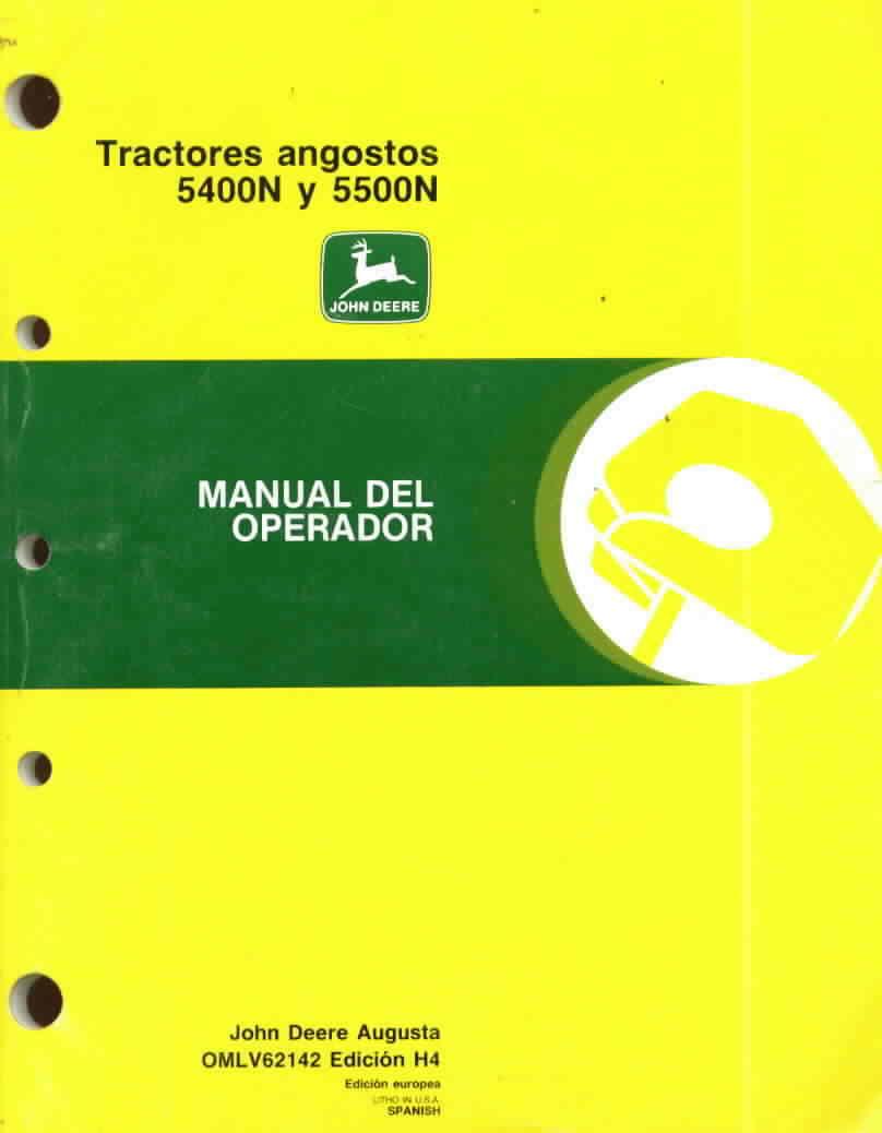 John deere operator's manual 5400N 5500N tractors good