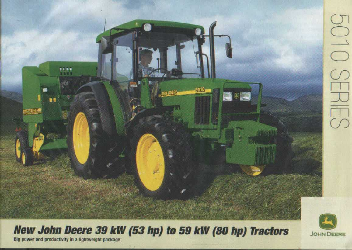 John Deere 5510 Manual Manuals 5410 Wiring Diagram Tractor 5010 Series Brochure 5310