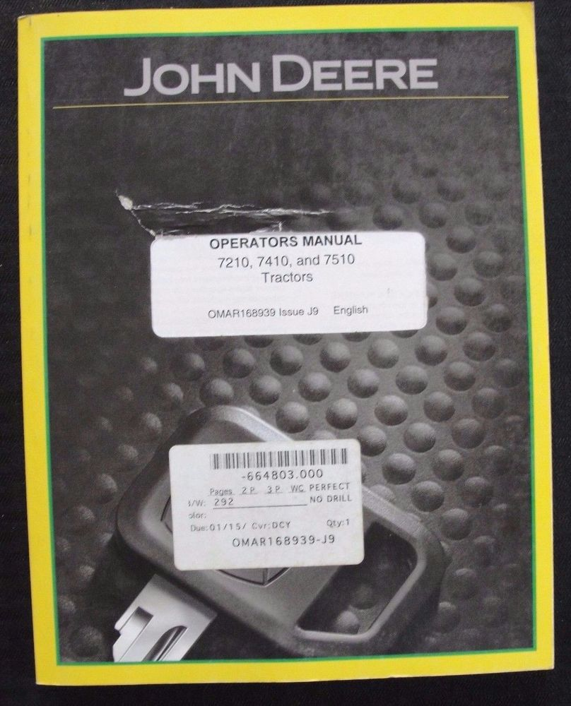 John deere 7410 service manual john deere manuals john deere genuine john deere 7210 7410 7510 tractor operators manual fandeluxe Images