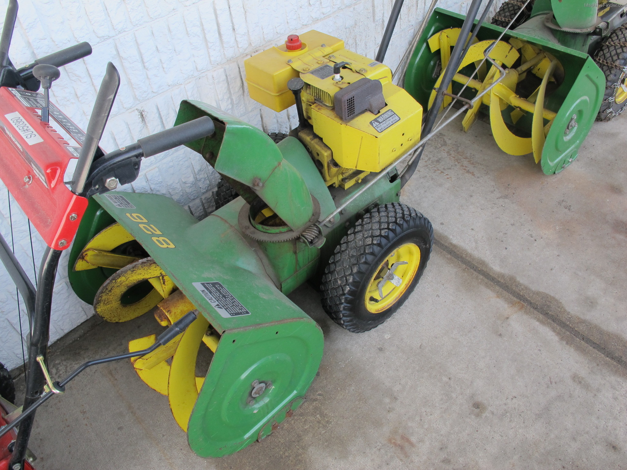 John deere 826 snowblower parts manual