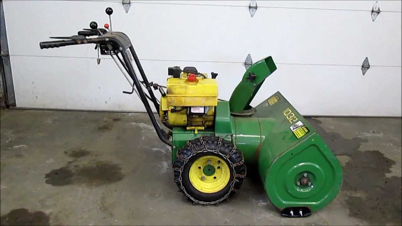 John Deere 1032 Snowblower - YouTube