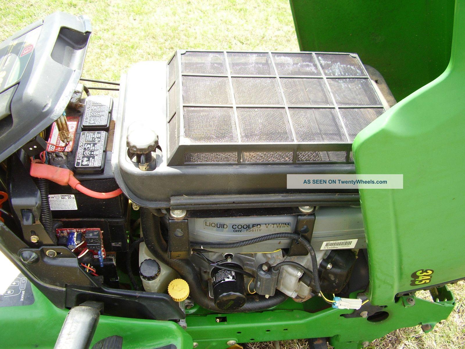 John Deere 345 Motor Motors Www Wiring Diagram Water Cooled 48 Inch Cut Power Steering