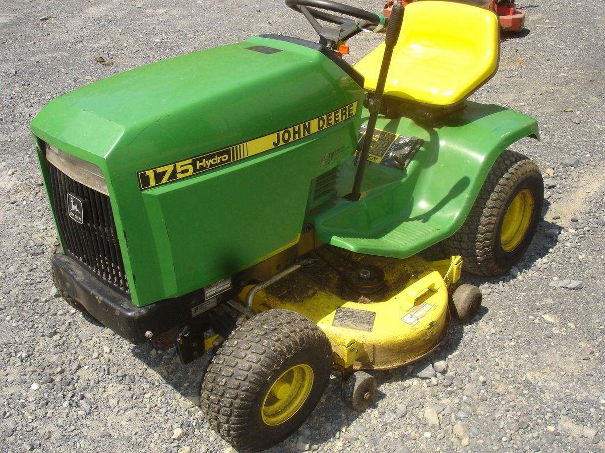 John Deere 175 Hydro Mower Mowers Kawasaki Fc420v 14 Hp Wiring Diagram Used Lawn Tractor Engine Is Locked