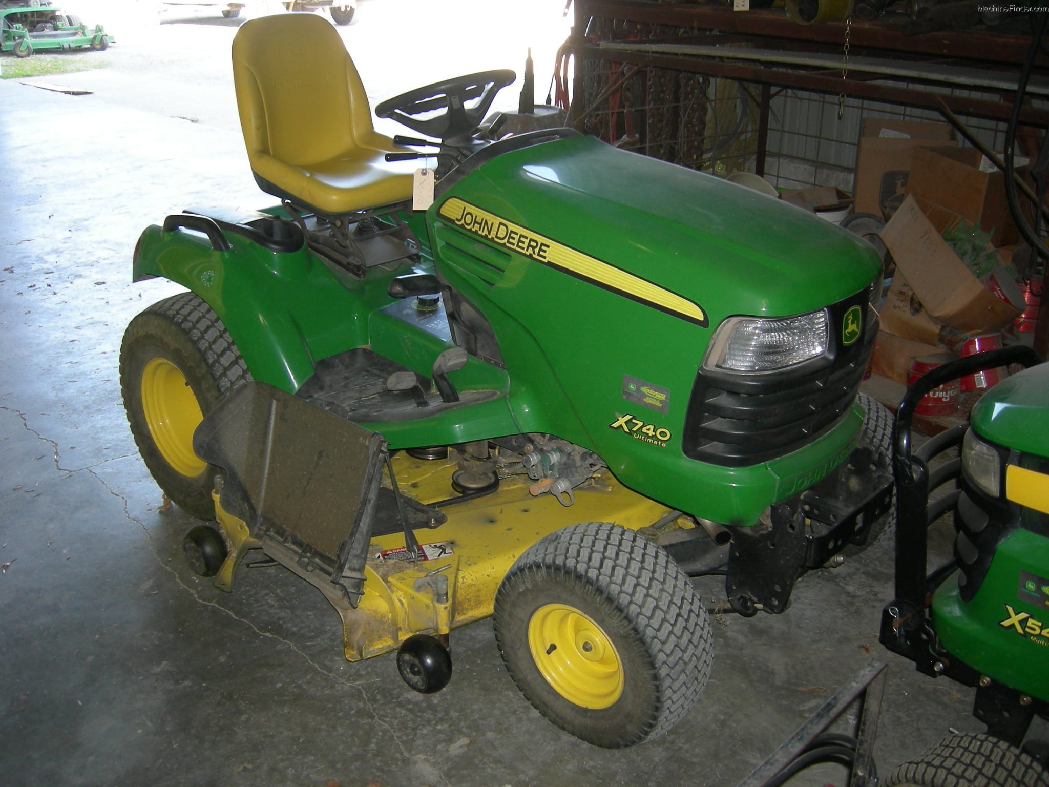 2007 John Deere X740 w 62C mower Lawn & Garden and .