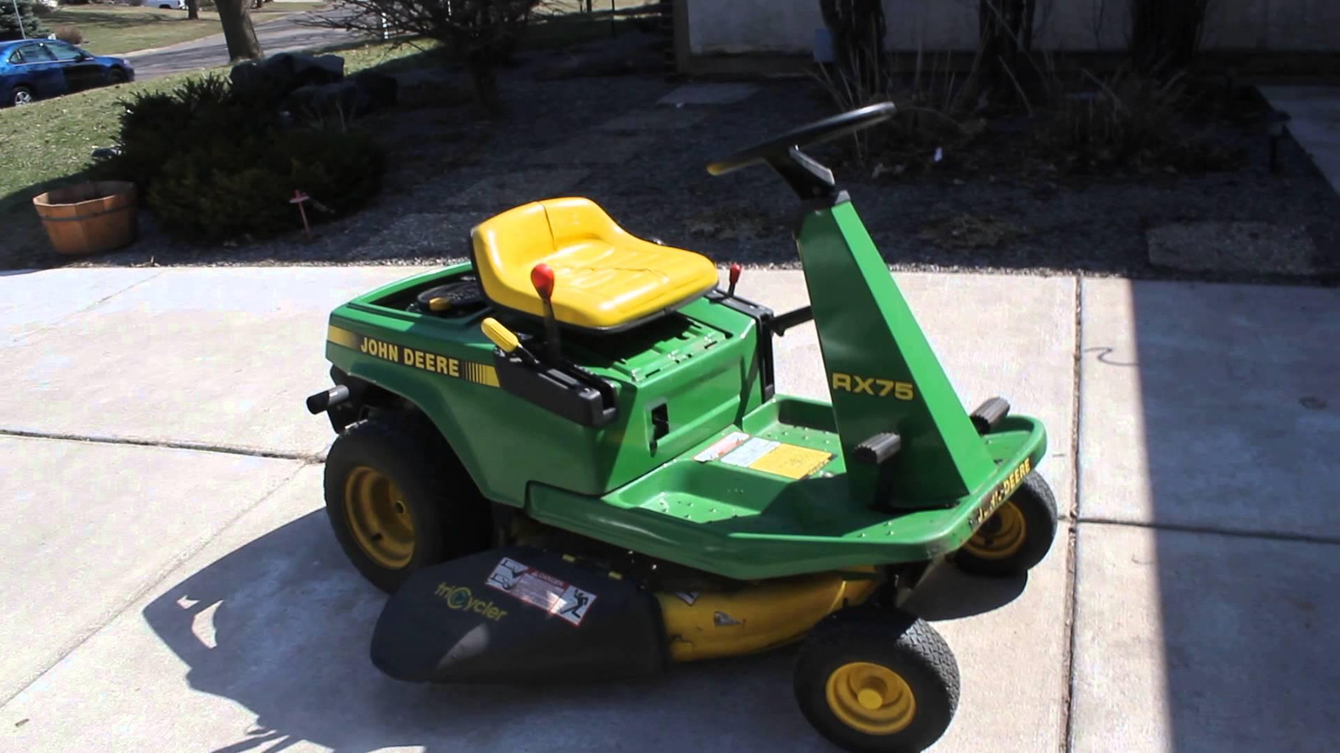 John Deere Rx75 Riding Mower Mowers Lawn Wiring Diagram Tractor Blue Book
