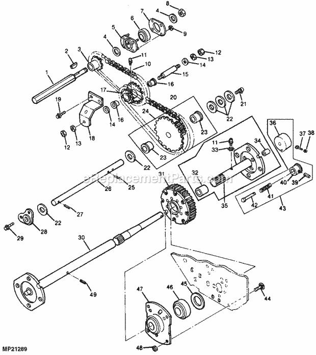 John Deere X485 Engine Diagram
