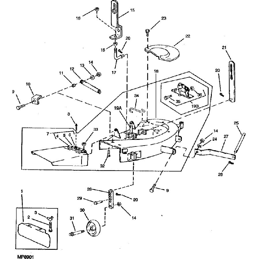 John Deere 116 Deck Parts