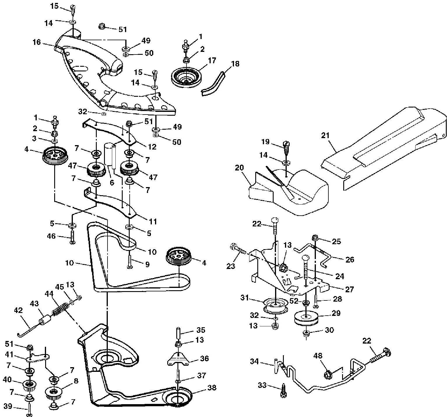 John Deere LTR180 Garden Tractor Spare Parts