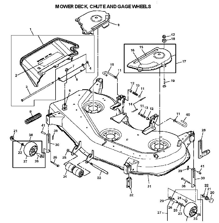 John Deere 245 Deck Parts John Deere Parts John Deere