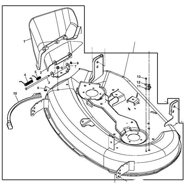 John Deere 42 Deck Parts   John Deere Parts: John Deere