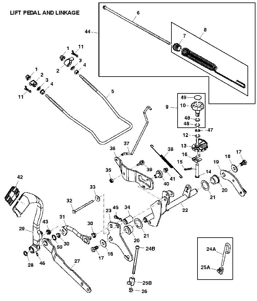 John Deere A Parts Www L107 Belt Drive And Idlers Exploded Diagram X300r Garden Tractor Spare