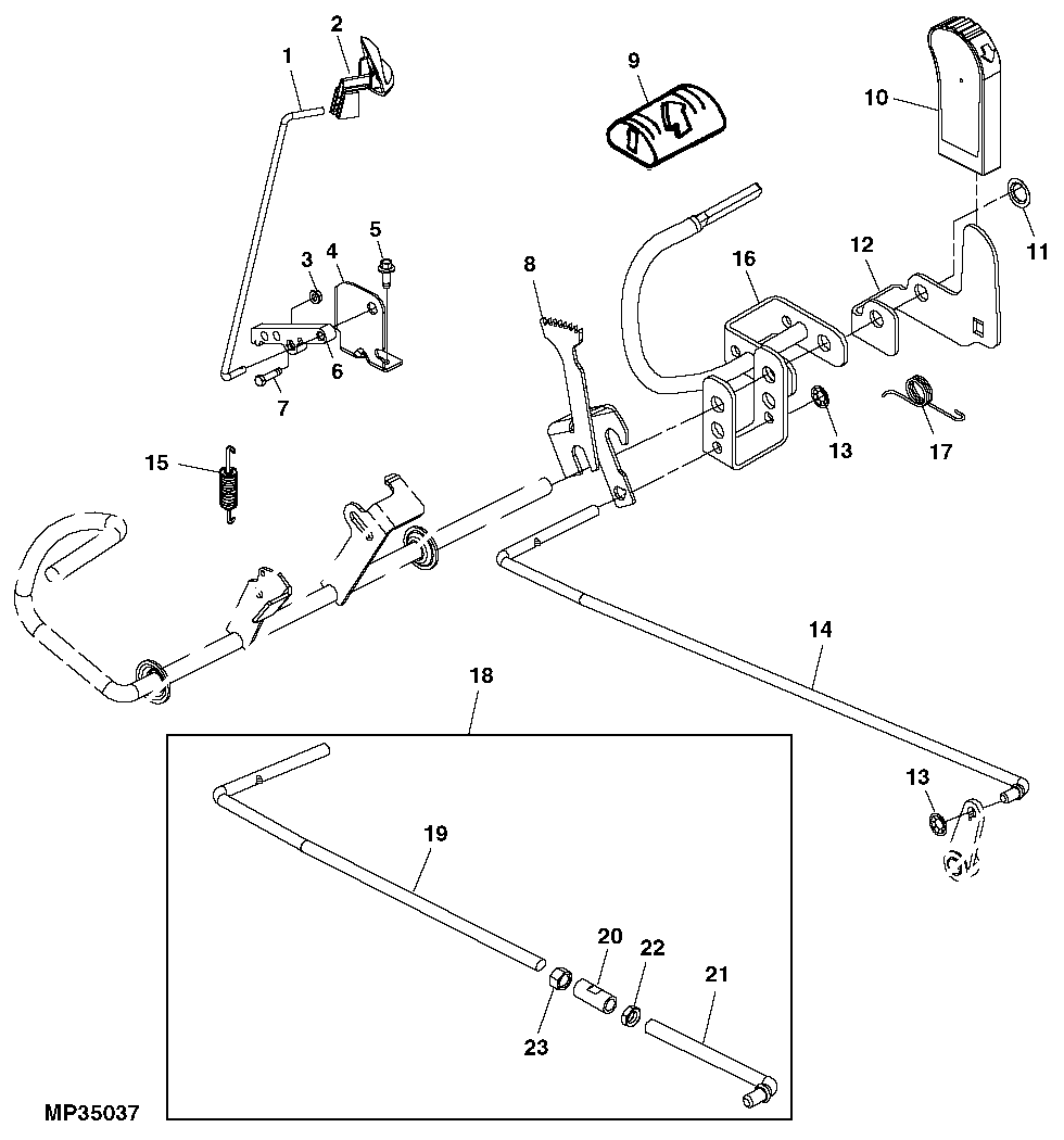 john deere l110 mower parts