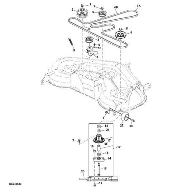 John Deere L120 Mower Deck Parts. John Deere 48'' Mower Deck Rebuild Kit Gy20996 L120 L130. John Deere. John Deere D110 Deck Parts Diagram At Scoala.co