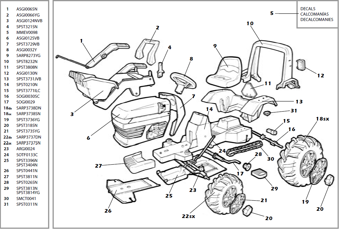 john deere lawn mowers parts list