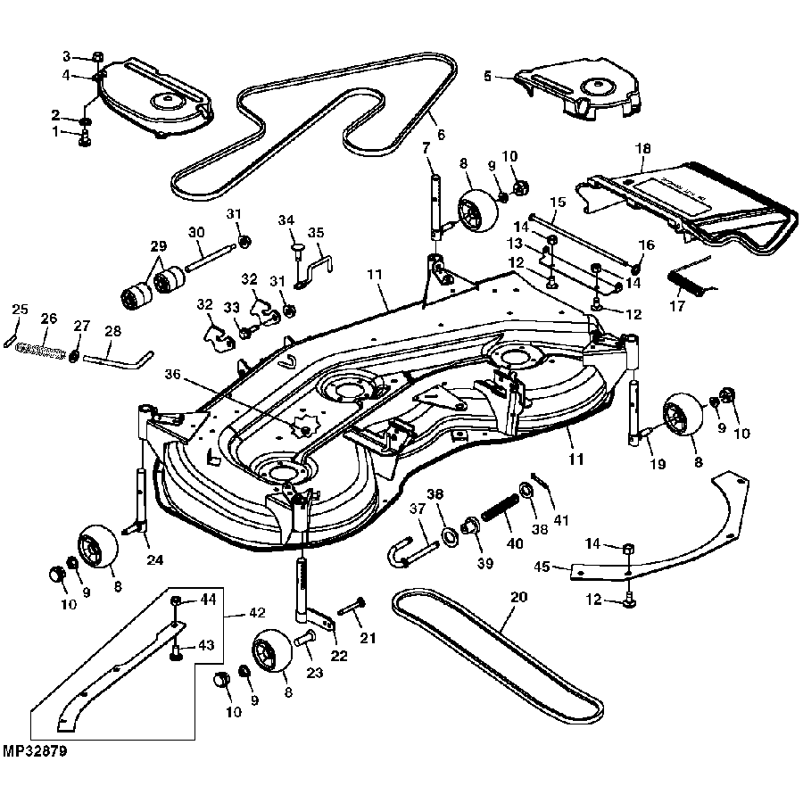 P 13198 John Deere 48 La130 La140 Deck Parts Diagram also 2006 John Deere Gator 6x4 Wiring Diagram likewise John Deere M Wiring Diagram additionally 31 John Deere Lx176 Parts Diagram as well John Deere L118 Wiring Diagram. on john deere lx176