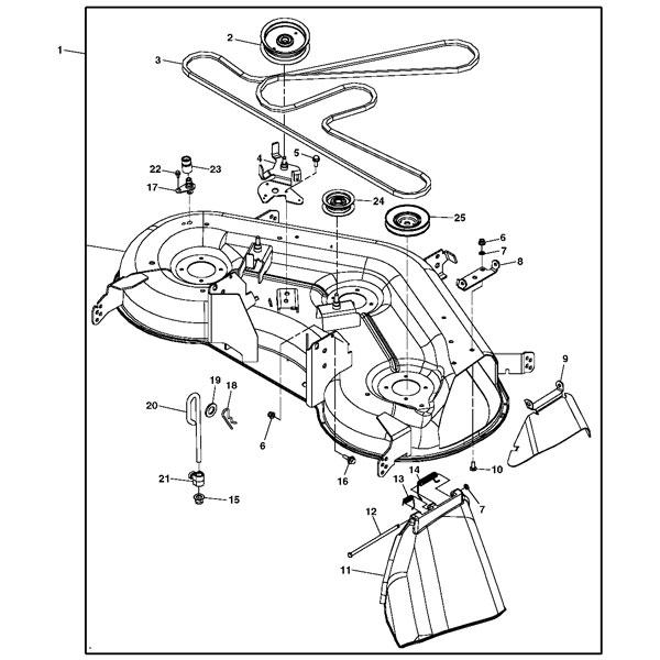 John Deere Lt166 Mower Deck Parts