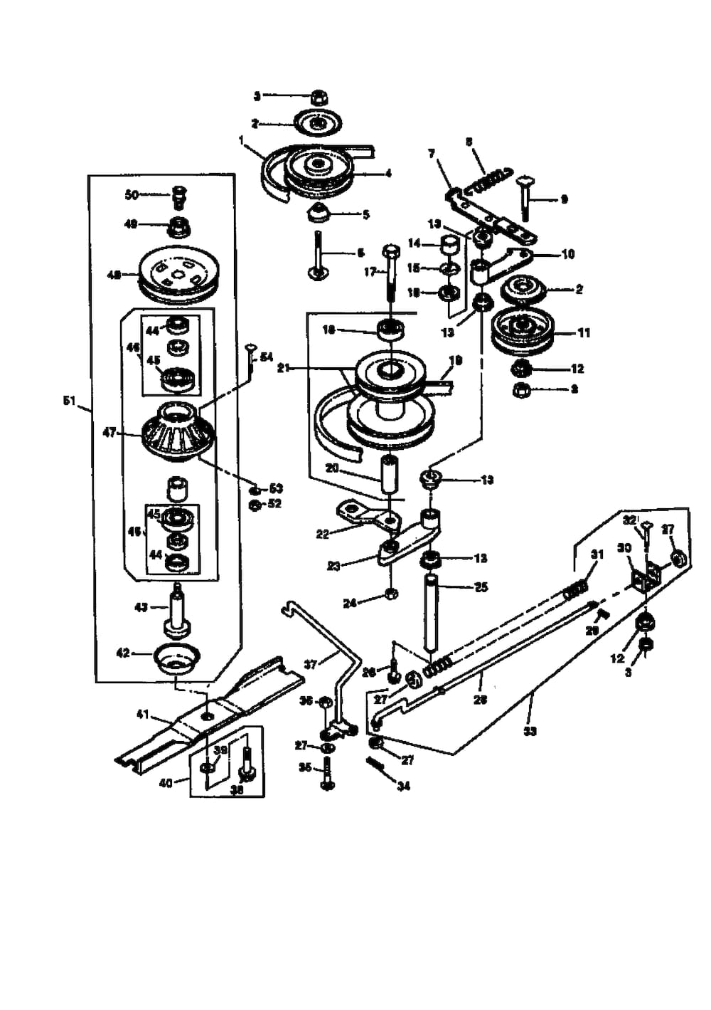 John Deere Riding Lawn Mower Parts. Mower Drive Beltsheavesspindles Diagram Parts List For. John Deere. John Deere La140 Steering Parts Diagram At Scoala.co