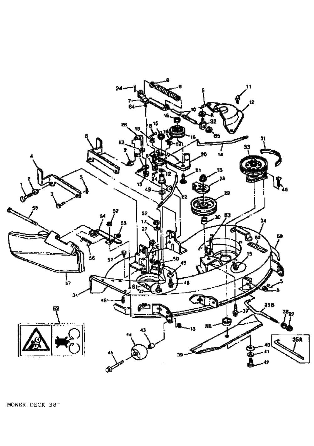 John Deere Riding Mower Parts Belt Idler Arm Hitch Diagram And List For Snapper Ridingmower Ebay