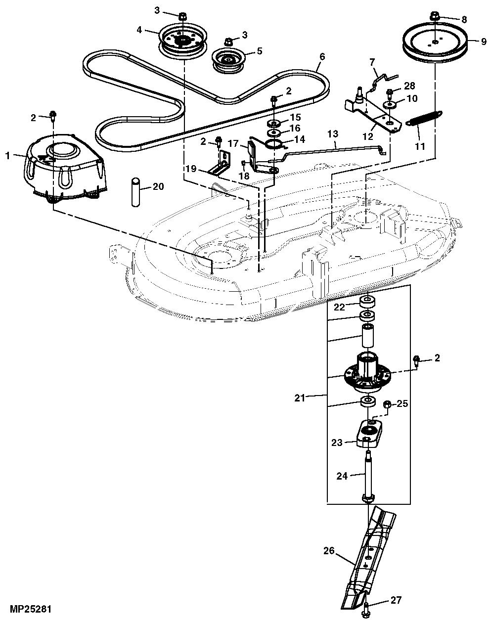 John Deere Z225 Parts Diagram   John Deere Parts: John Deere Parts ...