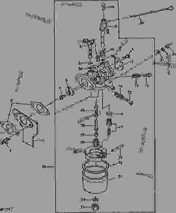 John Deere Amt 600 Carburetor Parts