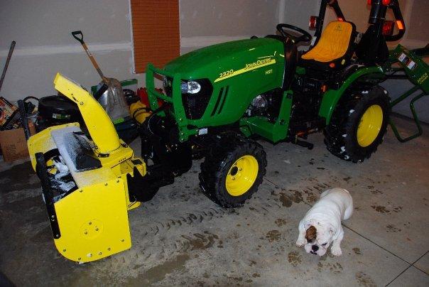 John Deere X749 Tractor With Snowblower More John Deere