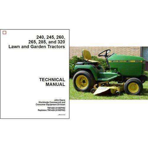John Deere 260 Lawn Garden Tractor | More John Deere Tractors: More