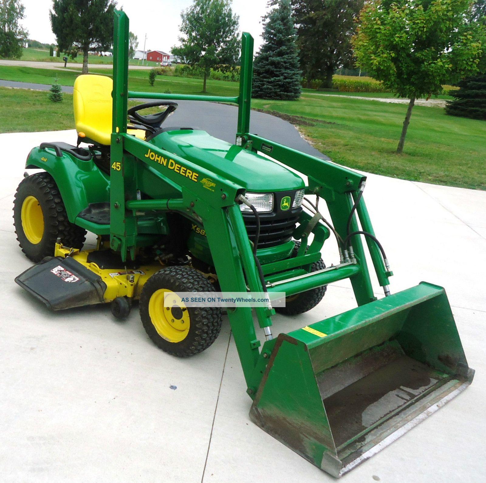 John Deere Garden Tractor W More Tractors Ford Lgt 125 Wiring Diagram 2004 X 585 4x4 Loader