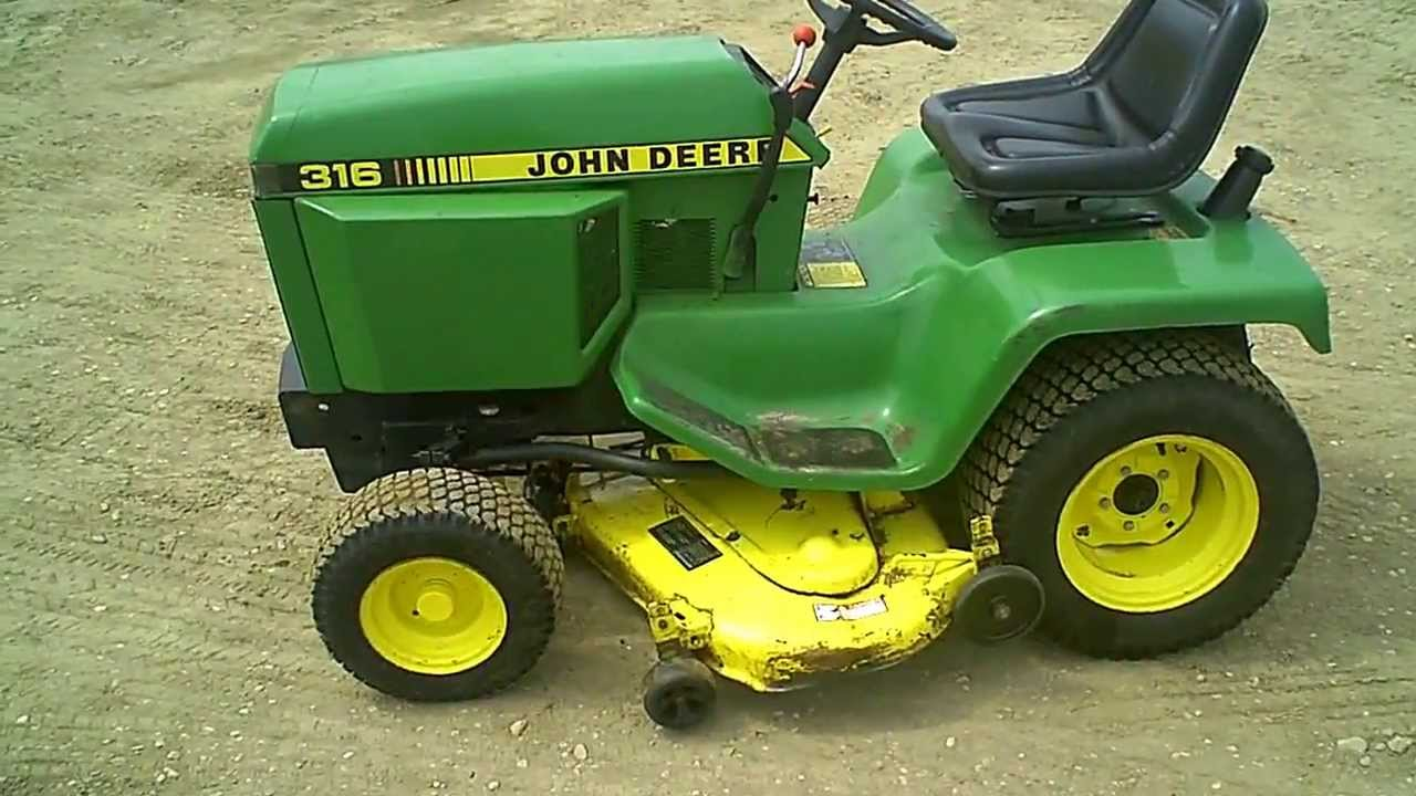 John Deere Garden Tractor W More Tractors Ford Lgt 125 Wiring Diagram For Sale Clean 316 Lawn 46