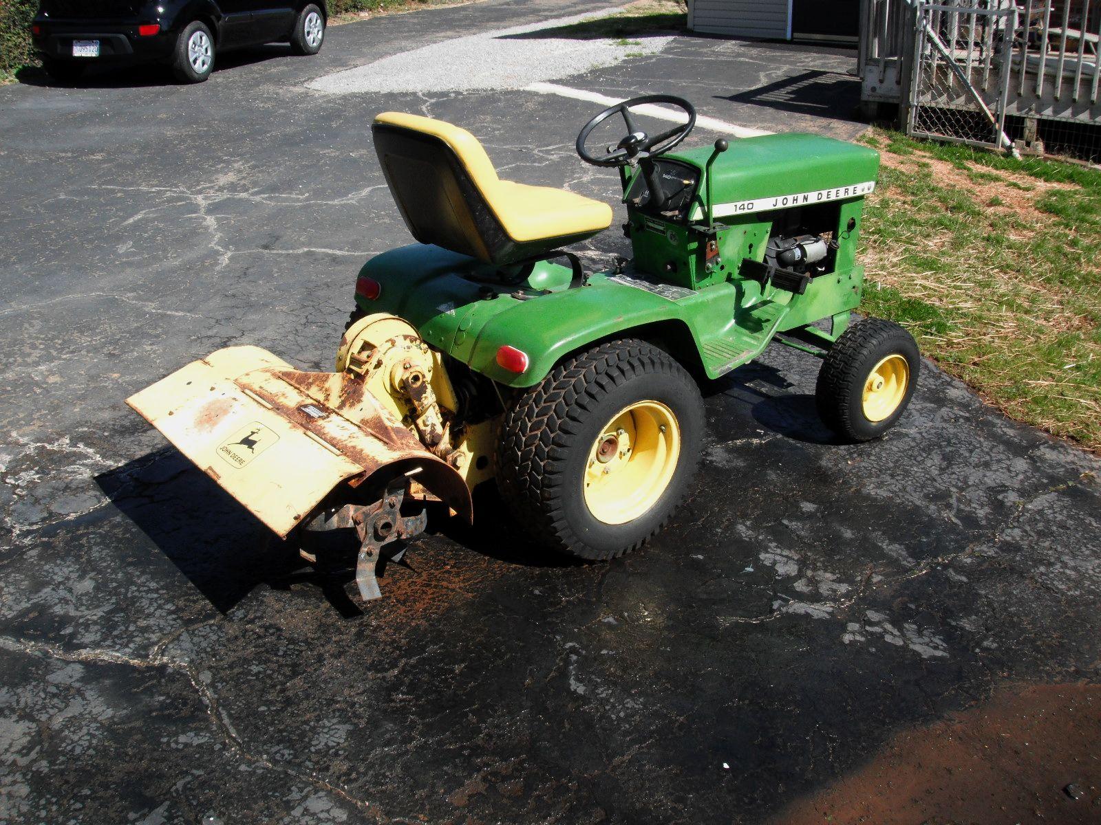 John Deere 110 Garden Tractor Tiller Attachment   John Deere