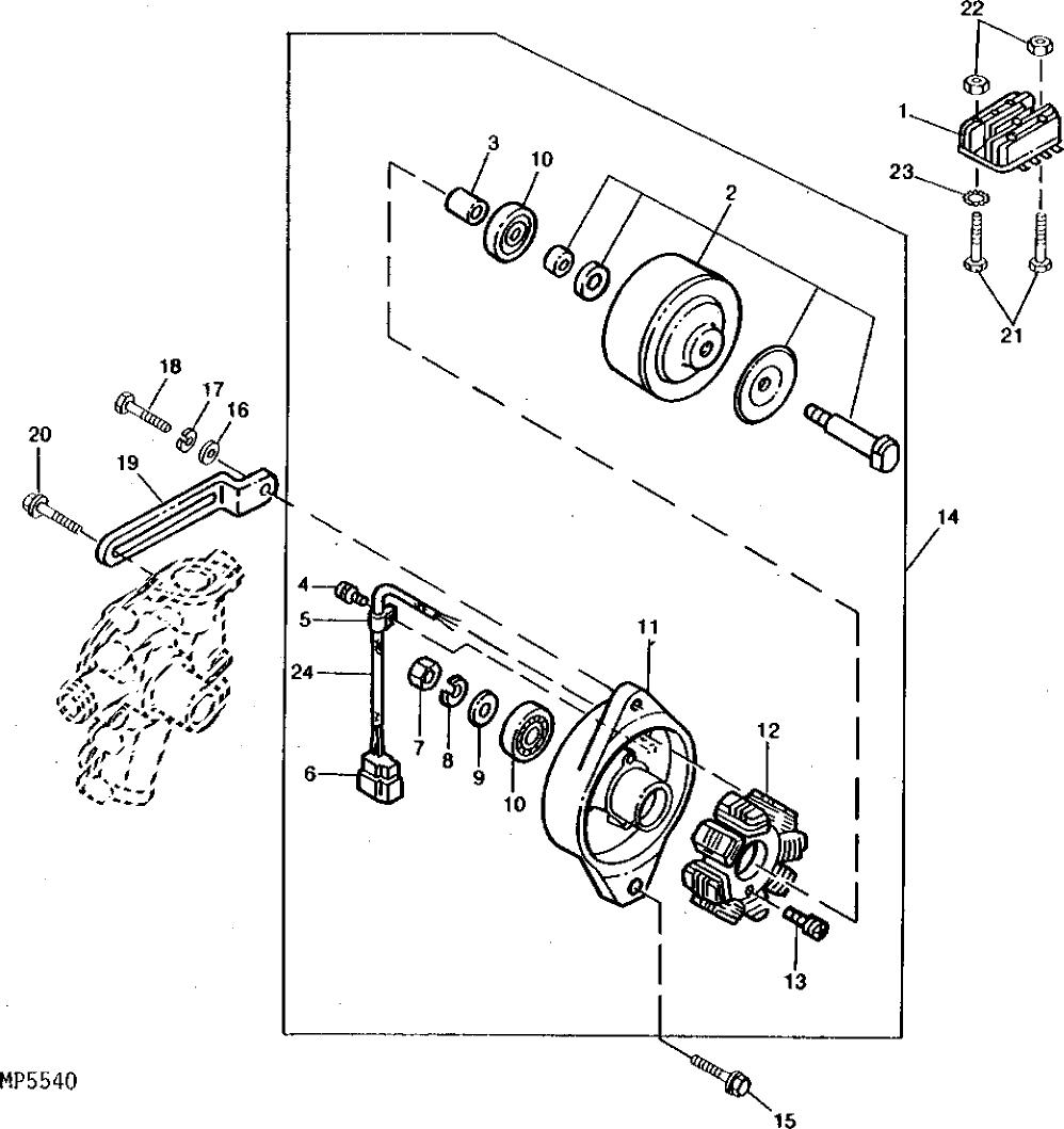 John Deere Alternator Wiring Diagram 15 Mini Exc 450c 322 Alternators