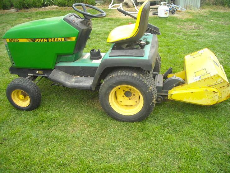John Deere 265 Lawn Tractor Tiller | John Deere Tillers: John Deere
