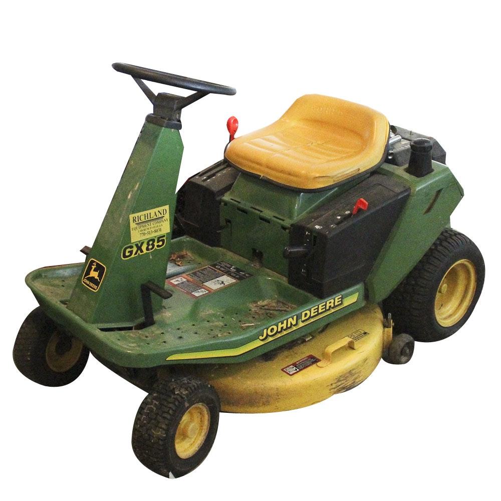 2002 John Deere GX85 13 HP Riding Lawn Mower : EBTH