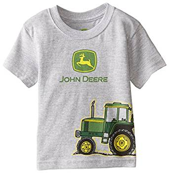 John Deere Baby Boys' Tractor Wrap Short Sleeve Tee, Heather Grey, 24 ...